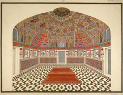 Interior of the mausoleum of Itimad-al-Daula, Agra 1800